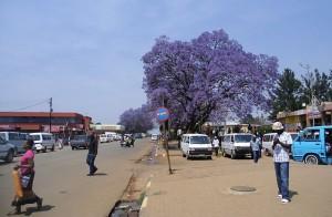 Straßenszene in Swasiland